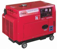 Генератор бензиновый ENERAL ГБЗ-5-3СК в шумозащитном кожухе.