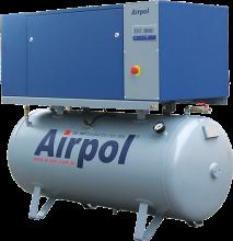 Винтовые компрессоры Airpol с ременным приводом на ресивере